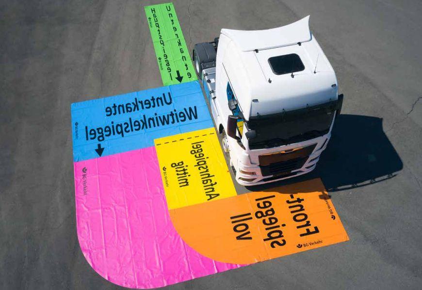 mata do regulacji lusterek w ciężarówce