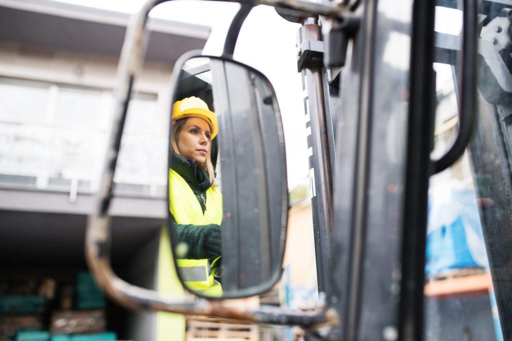 Regulacja ciężarowych lusterek - kolorowa plansza