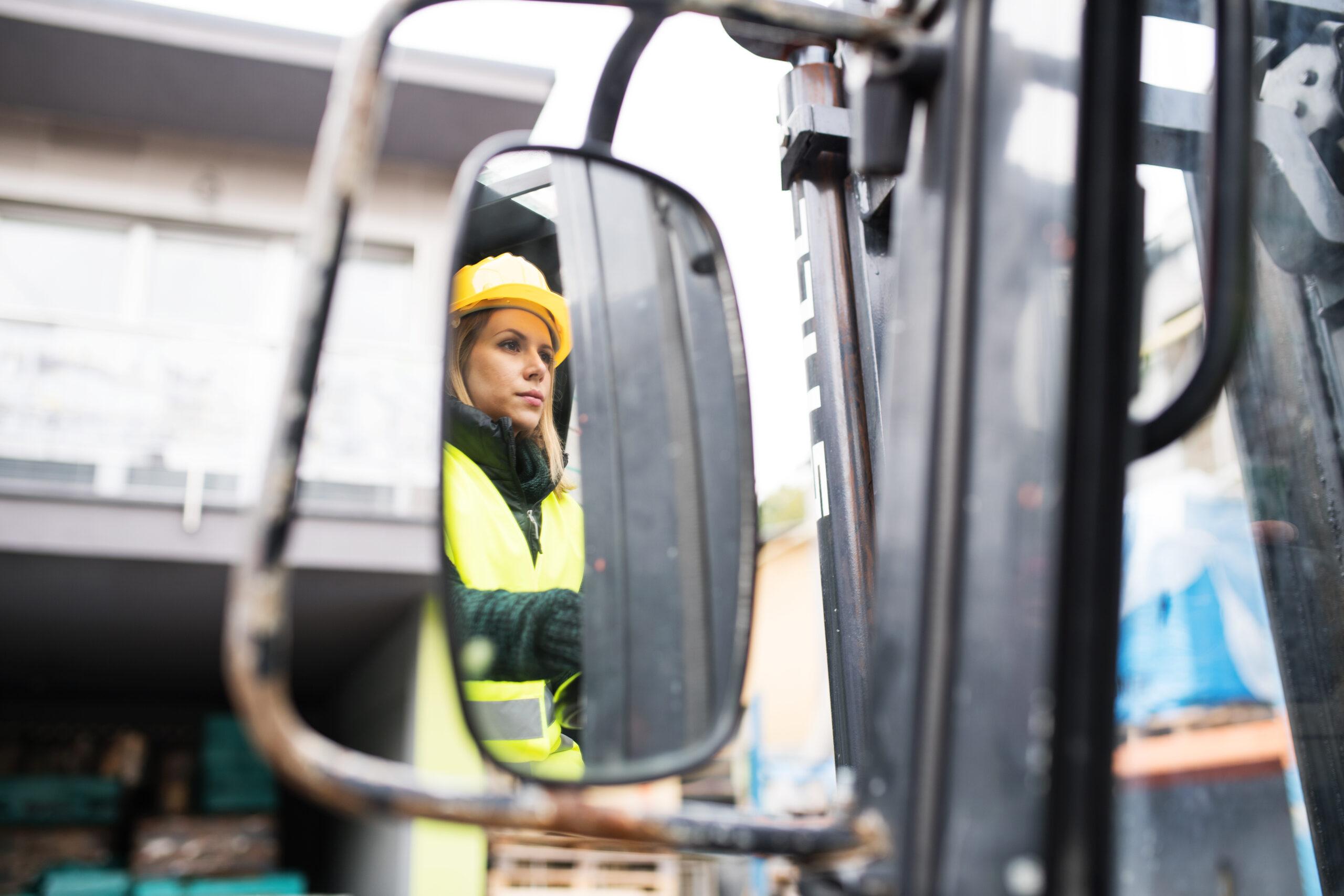 Regulacja ciężarowych lusterek – kolorowa plansza